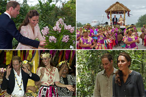 Magic moments from royal couple's tropical tour