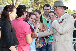 Prince Charles feeling 'a few sausages short of a barbeque' as couple touch down in Oz