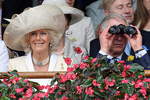Charles and Camilla given a royal reception as they arrive at the races in Melbourne