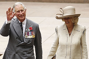 Prince Charles and Camilla wave goodbye to their